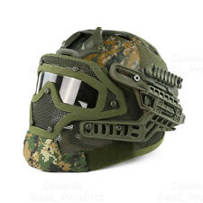 Tactical Protective Googles G4 System Full Face Mask Helmet Molle Paintball AOR2