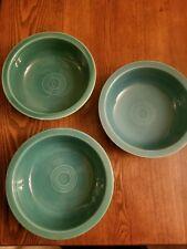 "Fiesta, Vintage, 8 1/2"" Nappy Bowl, Fiestaware, Turquoise blue"