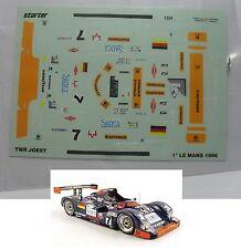 DECALS    TWR   JOEST  RACING   LE MANS 1996    MODEL  1/43