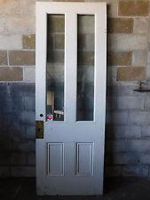 Antique Italianate Exterior 8' Tall Door - C. 1860 Fir Architectural Salvage