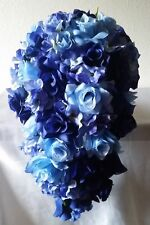 Royal Blue Light Blue Rose Hydrangea