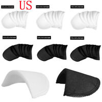 4 Pairs Shoulder Pads Covered Set-in Soft Foam for Blazer T-Shirt Blouse Clothes