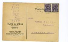 used German postcard 1923 early postal inflation March 13, 1923