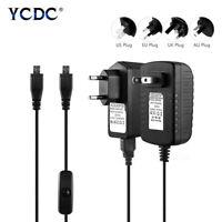 For Raspberry Pi 3 B B+ Power Supply Adapter DC 5V 3A/5V 2.5A US UK EU AU Plug