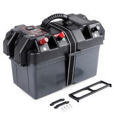 Battery Box USB Car Charger 12V Voltmeter w/ LED for Marine Trolling Motor Boats
