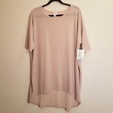 NWT LulaRoe Elegant Collection Irma Tunic Top Size L Pink Silver sparkle