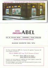 Pieghevole pubblicitario CONFEZIONI ABEL Torino - Anni '60