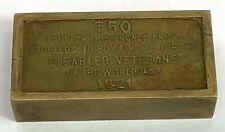 1921 Disabled Veterans Of The World War $50 Bronze Bar