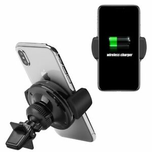 Wireless Charging Qi Standard Air Vent Car Mount Holder Cradle For iPhone Galaxy