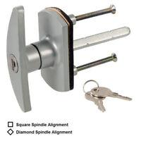 Replacement Garage Door Lock Security Locking T-Handle Diamond Square Spindle