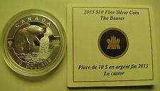2013 Proof $10 O Canada - Beaver .9999 silver COIN&COA ONLY