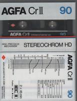 AGFA 1x CrII 90 Cassette K7 Tape Vierge Blank neuf 1982 germany chrome type II