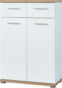 Germania 3190-178 Schuhschrank GW-Top  Schrank 74 x 110 x 37 cm weiß-eiche,KL1