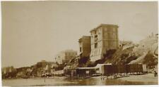 Italie Anzio Rome The beach Sea 1900c Vintage collodion photo