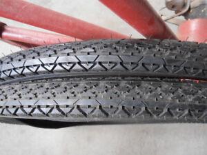BLACK Bicycle tires 26 x 2.125 BALLOON TIRES Schwinn Columbia etc.Goodyear tread