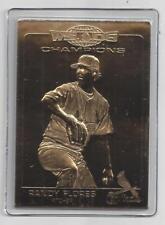 Randy Flores 2007 Danbury Mint Cardinal World Series Sealed 22 Kt Gold Card