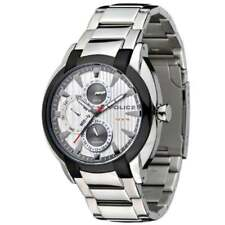 Steel Bracelet Mens Watch 12534Jstu-04M Police Independent Silver Dial Stainless
