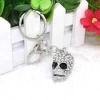 Creative Big Crystal Skull Pendant Purse Ornament Key Chain Rhinestone Key ring|