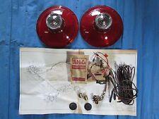 1963 Ford Car Backup Lamp Kit Galaxie 500 Lens Pair & Wiring
