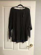 Sussan NWT Chocolate Brown Top With Tie Sleeves Size 14