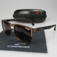 Fashion Men Womens Retro Sunglasses Unisex Aviator Brown Carrera Glasses