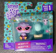 🐾🌠Owls Littlest Pet Shop Mommy & Teensie Baby OONA OWLER & NONA #77-#78 LPS🐾