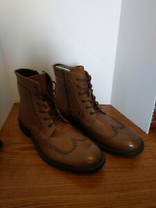 Unlisted by Kenneth Cole Blind Sided Dress Shoes, Mens Size 8.5 Brown Double Zip