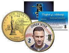 Derek Jeter 24K plaqué or pièce de monnaie US colorisé New York State quart NY