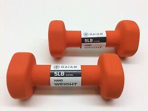 2 - Gaiam Neoprene Hand Weight 5lb Orange