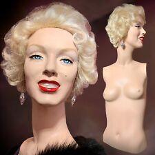 Vintage Marilyn Monroe Glamour Mannequin Female Torso Bust Oddity