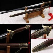 Stainless Steel Hand Forge Chinese Sword Tai chi JIAN Good Elasticity-0227