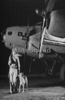 WW2 Photo Picture B-17 Bomber and German Shepherd Dog 299