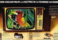 Publicité advertising 1975 (2 pages) Télévision Couleur Philips