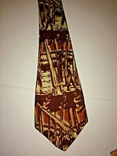 DeLuxe Tailored by Hand Imported  Fabric 1940s Vintage Necktie Tie Lumberjacks