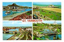 Great Yarmouth Postcard Anchor Gardens Britannia Pier Haven Bridge Boating Lake
