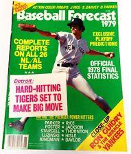 Baseball Forecast 1979 Ron Guidry Jim Rice Steve Garvey Dave Parker 1978 Stats