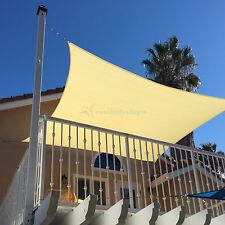 Sun Shade Depot Canary Yellow Terylene Waterproof Square Patio Cover Sail 16x16