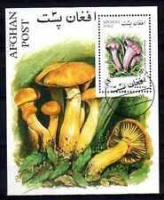 Champignons Afghanistan (4) bloc oblitéré