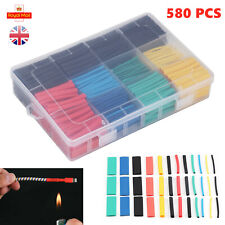 580PCS Heat Shrink Tubing Tube Sleeve Kit Electrical Assorted Cable Wire Wrap UK