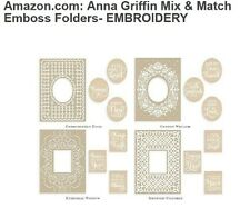 Anna Griffin Cuttlebug Mix & Match Embroidered Frames Embossing Folders plates