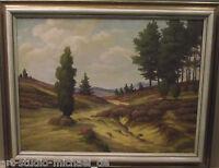 """Norddeutsche Künstler: Franz van der Glas """"Weite Landschaft mit blühender Heide"""""""