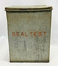 SEALTEST DAIRY Milk Porch Box Vintage Galvanized Tin Porch Box