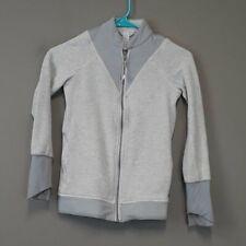 Ivivva Lululemon  7 girl's Gray Zip Front Athletic Sweatshirt Casual thumb holes