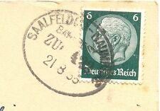 "Bahnpost, Bahnpoststempel ""Saalfeld-Naumburg"", auf AK v. Jena, 30er J"