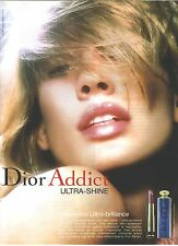 PUBLICITE advertising 2004  Dior addict  rouge à lèvre ultra brillance maquillag