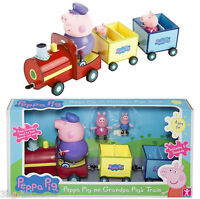 Peppa Pig Grandpa Pig's Train Playset Toy Figures Includes Speech Sound New