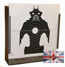 100 Air Rifle Monster Paper Targets 14cm Pistol Gun (100gsm uk made