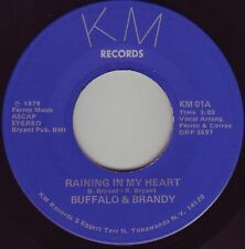 "BUFFALO & BRANDY Raining In My Heart ((**NEW 45 from 1979**)) ""Buddy Holly Song"""