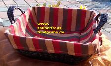 Korb Schale 30cm Textileinlage Regalkorb Brotkorb Obstkorb  VERSANDKOSTEN FREI