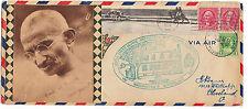 GANDHI UNIQUE US 1932 COMMEMORATIVE COVER 200th ANN. OF WASHINGTON CACHET
